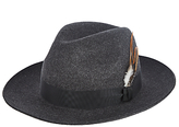 Christys' Grosvenor Fedora Hat, Charcoal