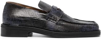 Martine Rose Roxy snake-effect leather loafers