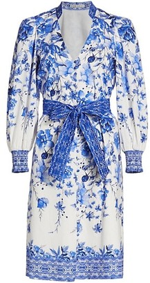 Alice + Olivia Shanley Printed Belted Dress