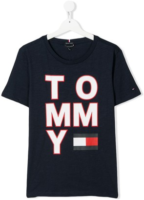 Tommy Hilfiger Junior TEEN logo-print T-shirt