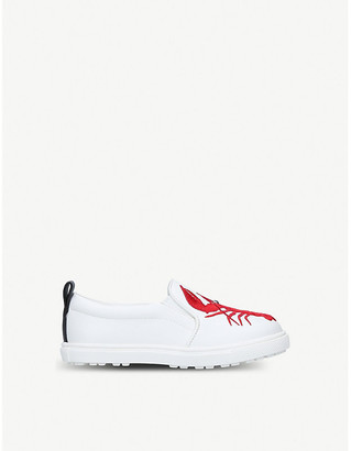 Kurt Geiger London Claude lobster-embroidered slip-on trainers 3-7 years
