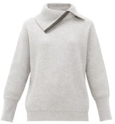 Brunello Cucinelli Embellished Roll-neck Cashmere Sweater - Womens - Light Grey