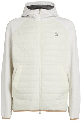 Brunello Cucinelli Quilted Panel Hooded Jacket