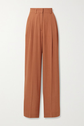 Petar Petrov Hector Wool-blend Wide-leg Pants - Orange