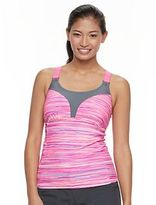 Free Country Women's Striped Racerback Tankini Top