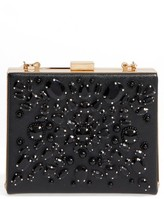 Cara Crystal Box Clutch - Black