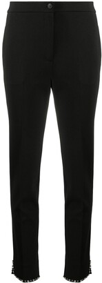 Twin-Set Skinny Fit Embellished Trim Trousers