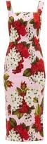 Dolce & Gabbana Floral-print Cady Midi Dress - Womens - Red Print