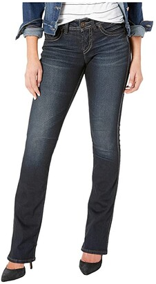 Silver Jeans Co. Suki Mid-Rise Slim Boot Jeans in Indigo L93616SSX405 (Indigo) Women's Jeans