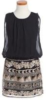 Nanette Lepore Girl's Chiffon Sequin Dress