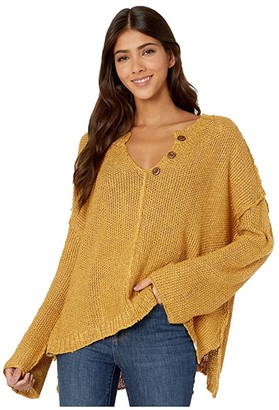 Rip Curl Easy Going Pullover (Mustard) Women's Sweater