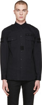 Givenchy Black Velcro Patches Shirt
