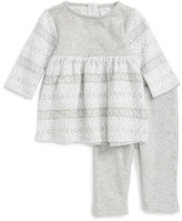 Nordstrom Fair Isle Knit Dress & Leggings Set (Baby Girls)