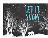 Let It Snow Holiday Card Set