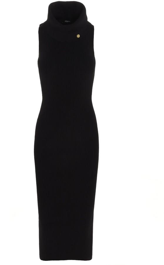 Thumbnail for your product : Balmain Turtleneck Sleeveless Midi Dress