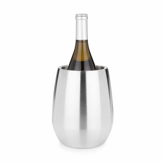 Viski Harrison Convex Stainless Steel Insulated Wine Bottle Chiller