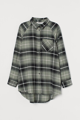 H&M Oversized Flannel Shirt