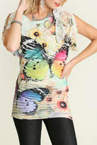 Umgee USA Butterfly Sublimation Top