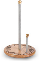 GG Collection G G Collection Mango Wood Laser Metal Inlay Leaf Paper Towel Holder