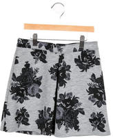 MSGM Girls' Floral Print A-Line Skirt w/ Tags