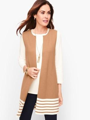 Talbots Striped Milano Knit Vest