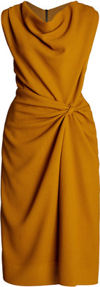 Narciso Rodriguez Wool Crepe Knot Dress