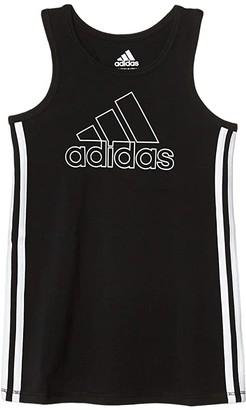 adidas Kids 3 Stripe Tank Dress (Infant) (Black) Girl's Clothing