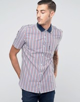 Lambretta Shirt in Gingham with Short Sleeves