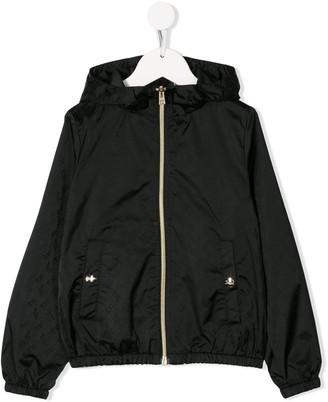 Herno Logo Zipped Hooded Jacket