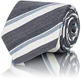 Brioni Men's Striped Woven Silk Necktie