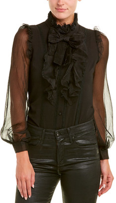 Nisha Outi Silk-Blend Bodysuit