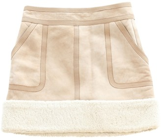 Louis Vuitton Beige Leather Skirts