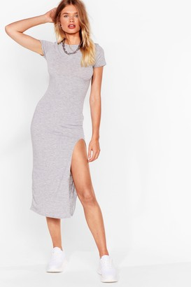 Nasty Gal Womens Maxed Out Slit Maxi Dress - Grey