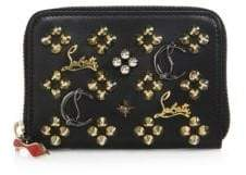 Christian Louboutin Panettone Logo-Detail Studded Leather Coin Purse