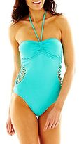 JCPenney a.n.a® Bandeau One-Piece Swimsuit