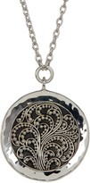 Lois Hill Sterling Silver Handmade Granulated Pendant Necklace