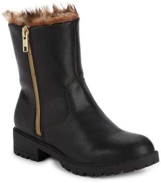 Steve Madden Girl's JNorthy Faux Fur Lined & Faux Fur-Trimmed Boots