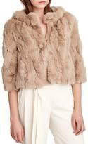 Halston Cropped Fur Coat