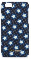 Miu Miu Star-Print Madras Leather iPhone 6 Case