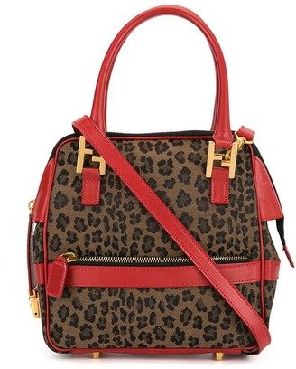 Fendi Pre Owned Leopard Printed 2way Bag