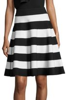 Milly Colorblock Flared Skirt