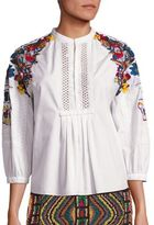Valentino Embroidered Blouse