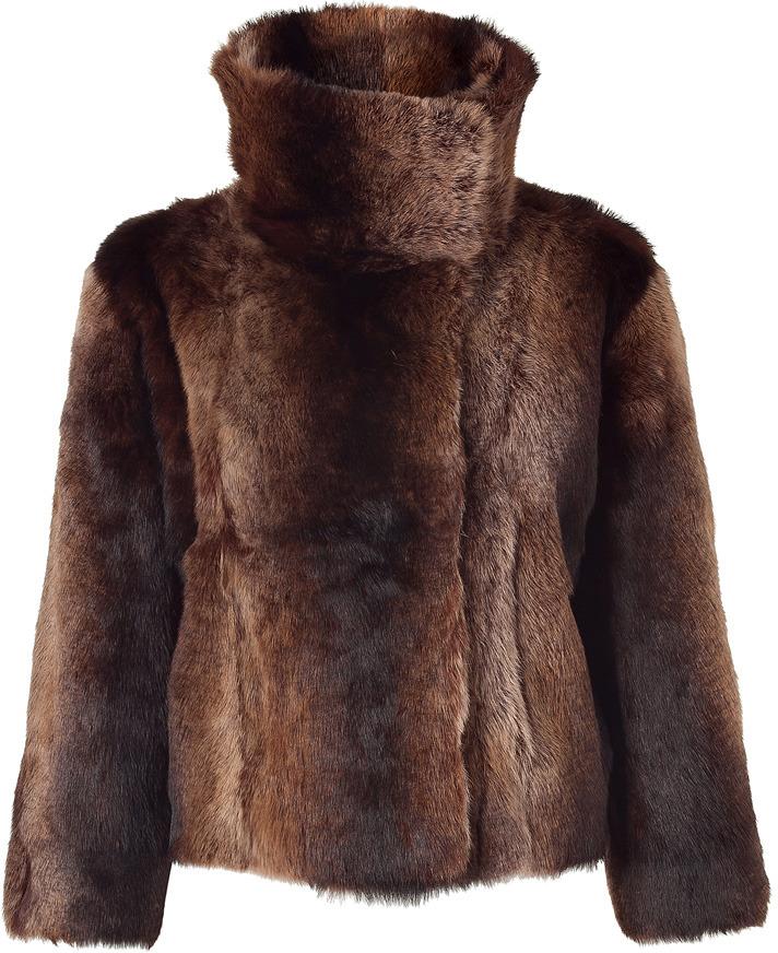 Utzon Brown Short Fur Jacket
