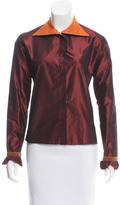 Etro Iridescent Button-Up Top