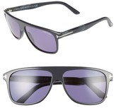 Tom Ford Women's Inigo 59Mm Flat Top Sunglasses - Black/ Havana/ Smoke
