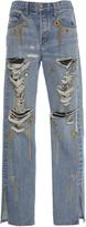 Jonathan Simkhai Embellished Denim Boyfriend Jeans
