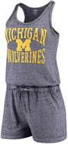 Unbranded Women's Concepts Sport Heathered Navy Michigan Wolverines Squad Romper