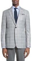 Armani Collezioni Men's G-Line Trim Fit Plaid Sport Coat