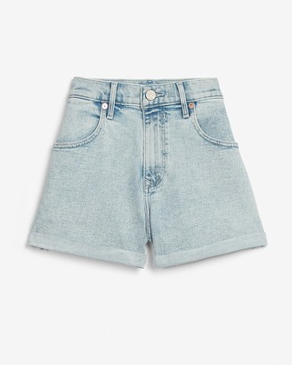 Express Super High Waisted Rolled Mom Jean Shorts