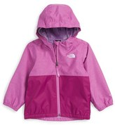 The North Face 'Warm Storm' Hooded Waterproof Jacket (Baby Girls)